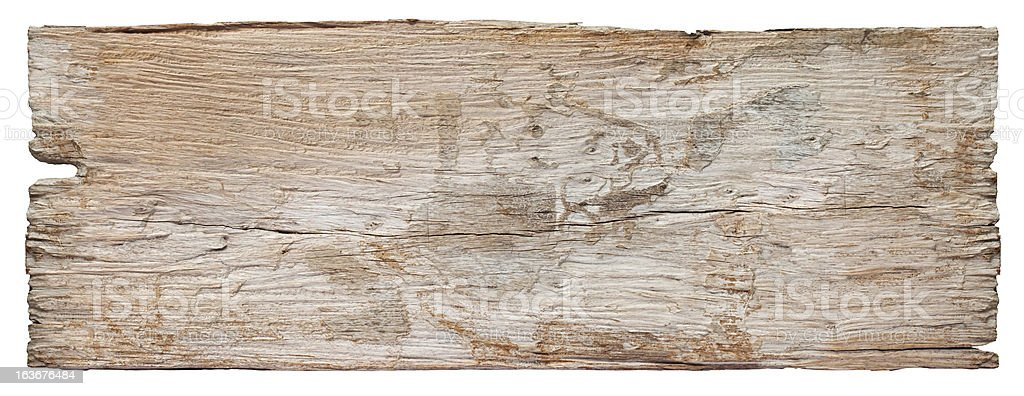 Old piece of white weathered wood board. royalty-free stock photo