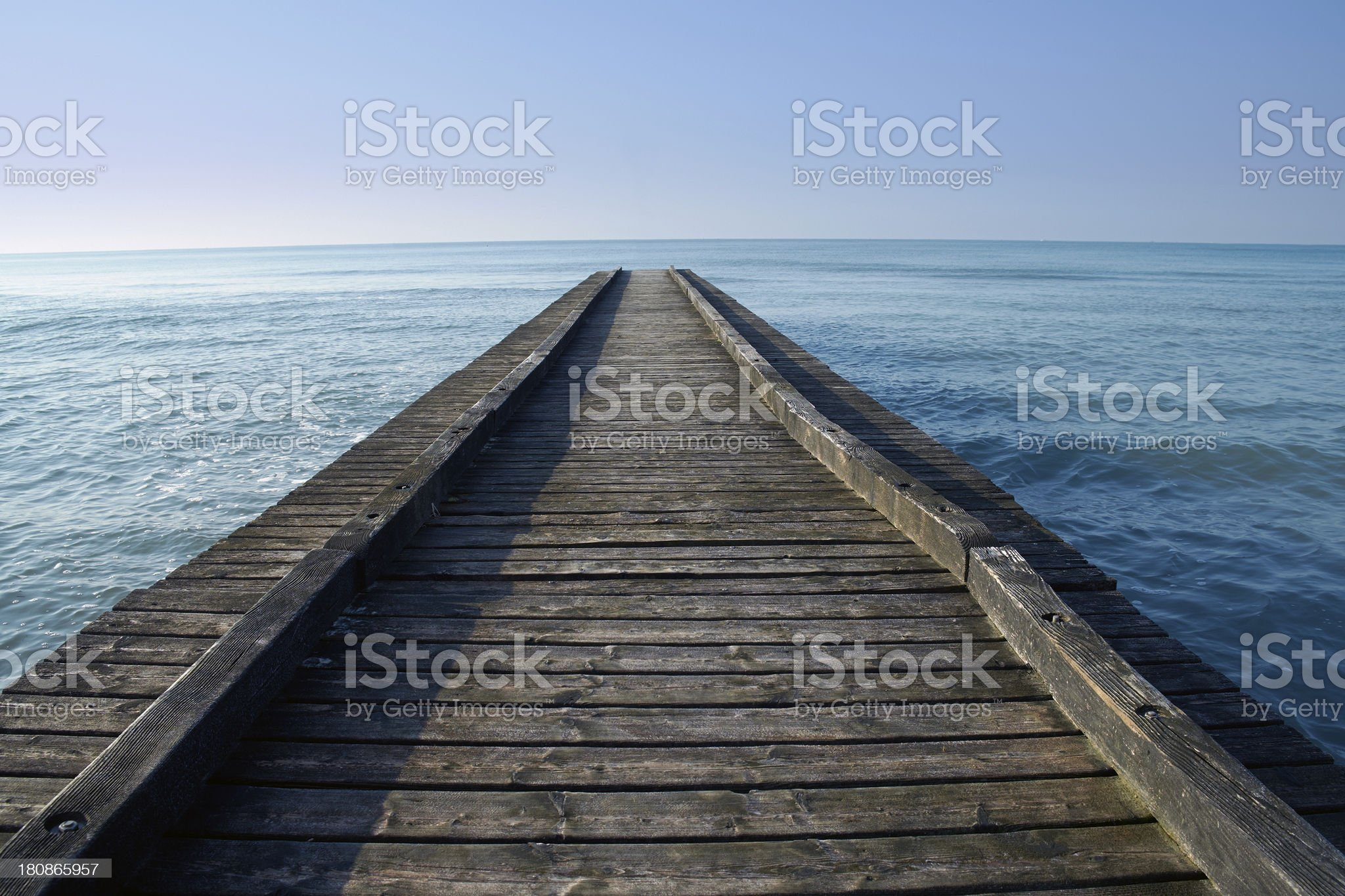 Old pier. Color Image royalty-free stock photo
