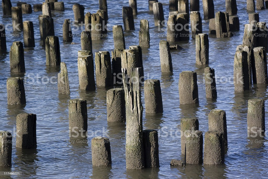 Old pier on the Riverside, New York royalty-free stock photo