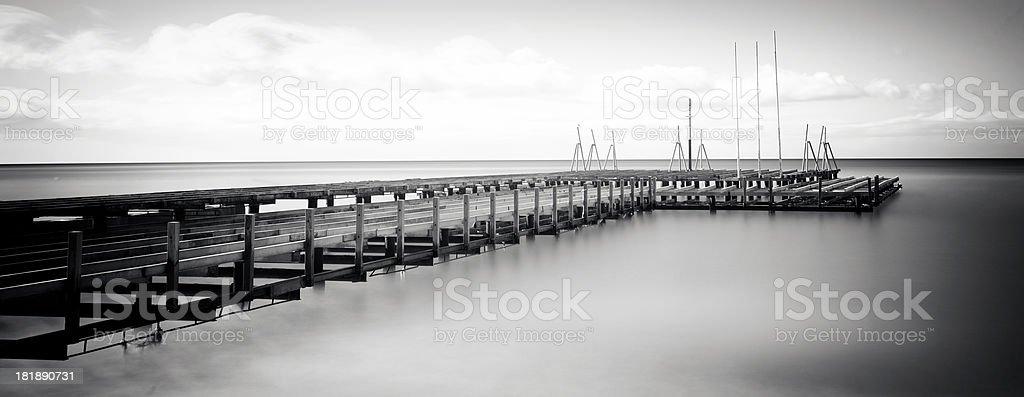 Old pier stock photo