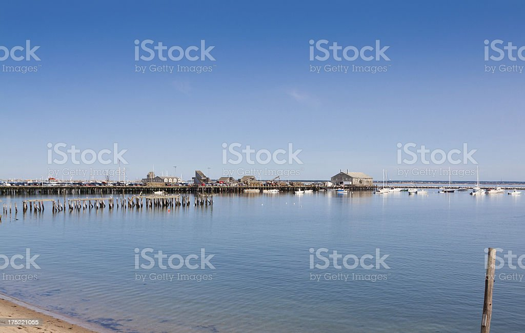 Old Pier, Provincetown, Cape Cod, Massachusetts. royalty-free stock photo