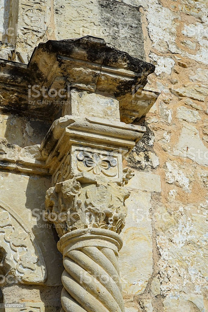 Old Pilaster Column stock photo