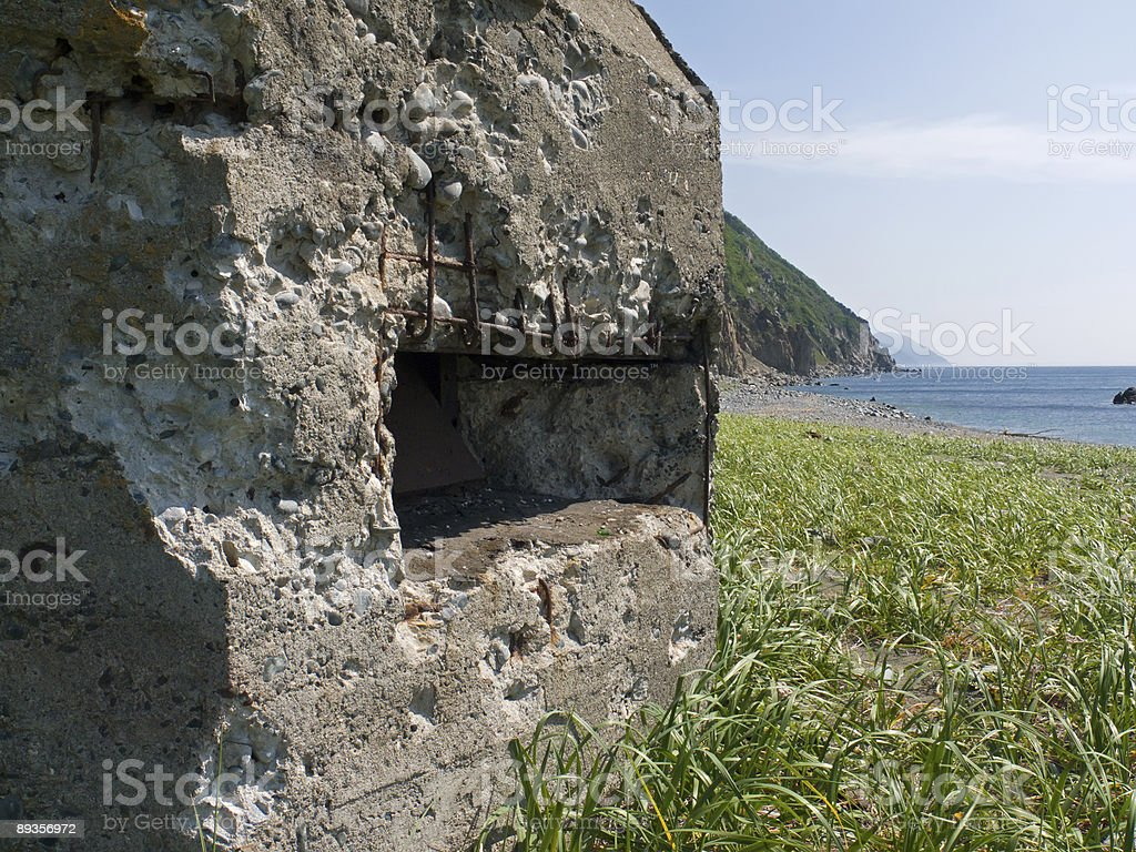 Old Pillbox on Seacoast 1 royalty-free stock photo
