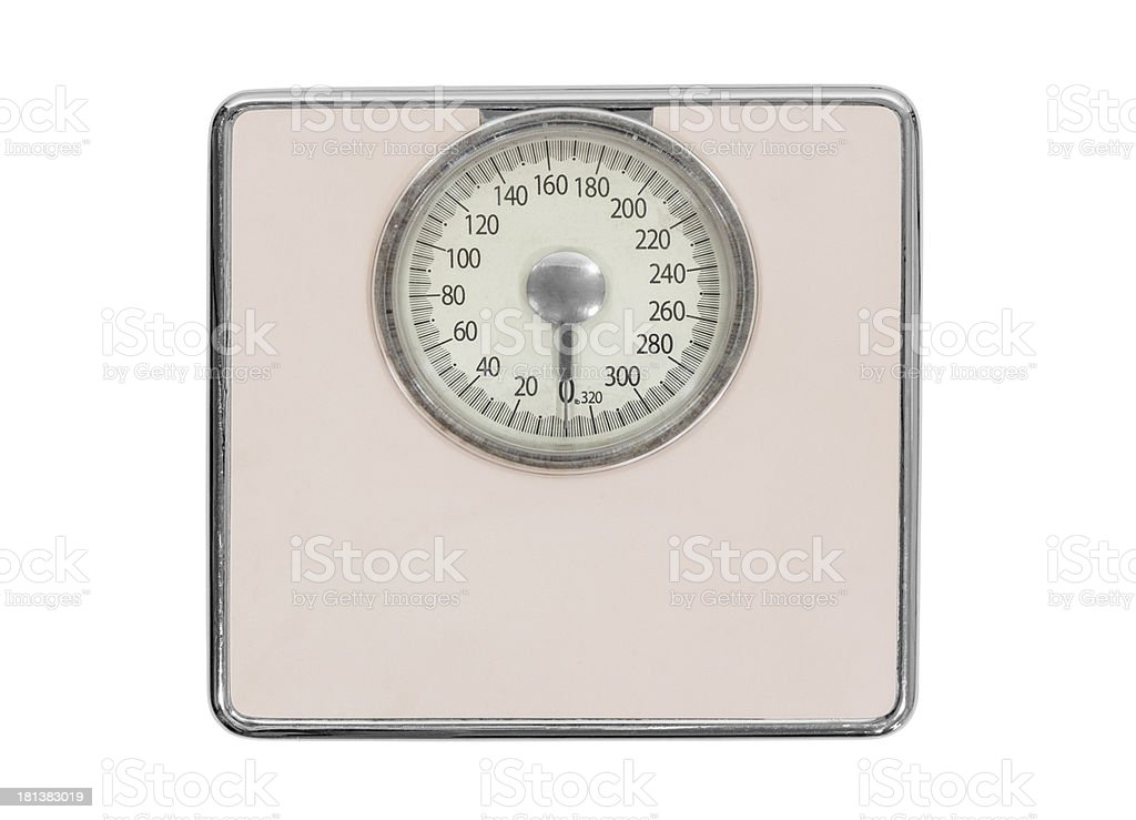 Old Pink Bathroom Scale royalty-free stock photo