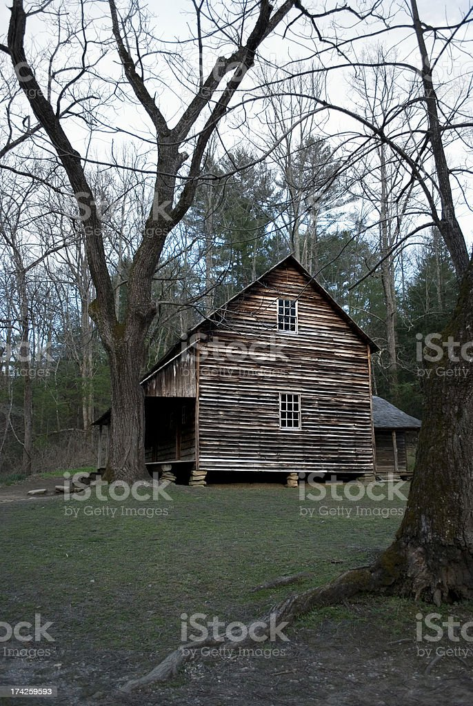Old pioneer cabin royalty-free stock photo
