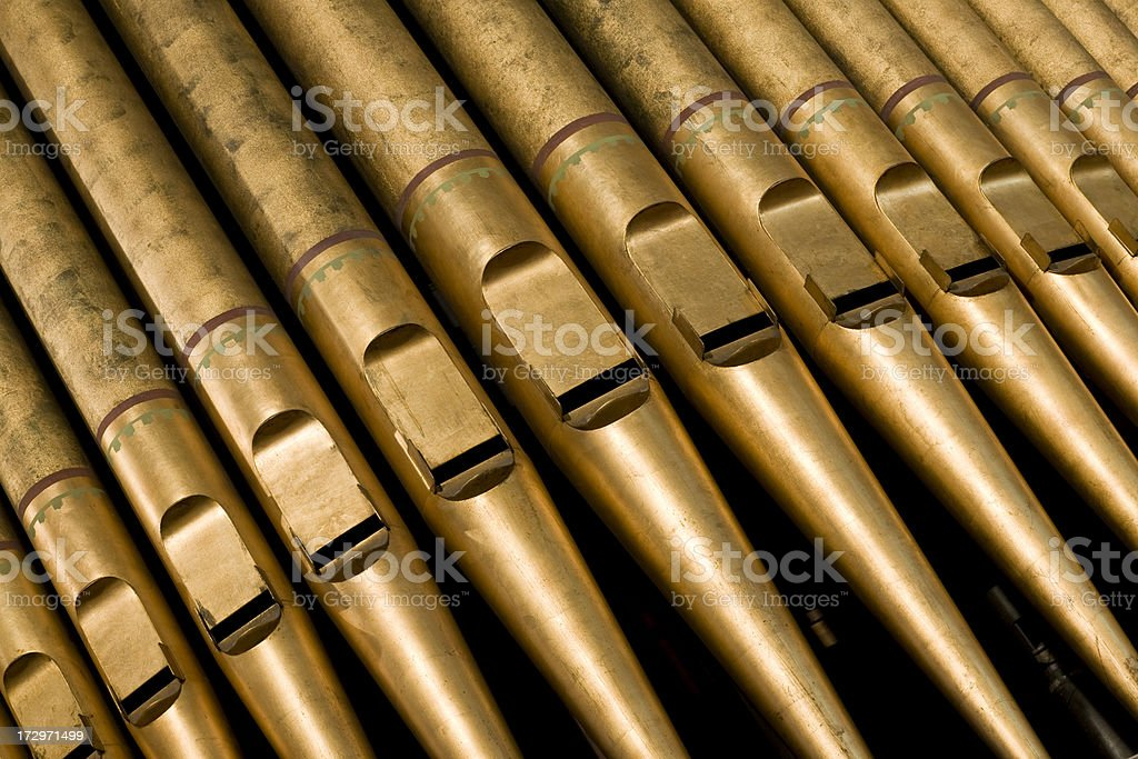 Old Pipe Organ royalty-free stock photo