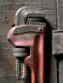 Old pipe wrench