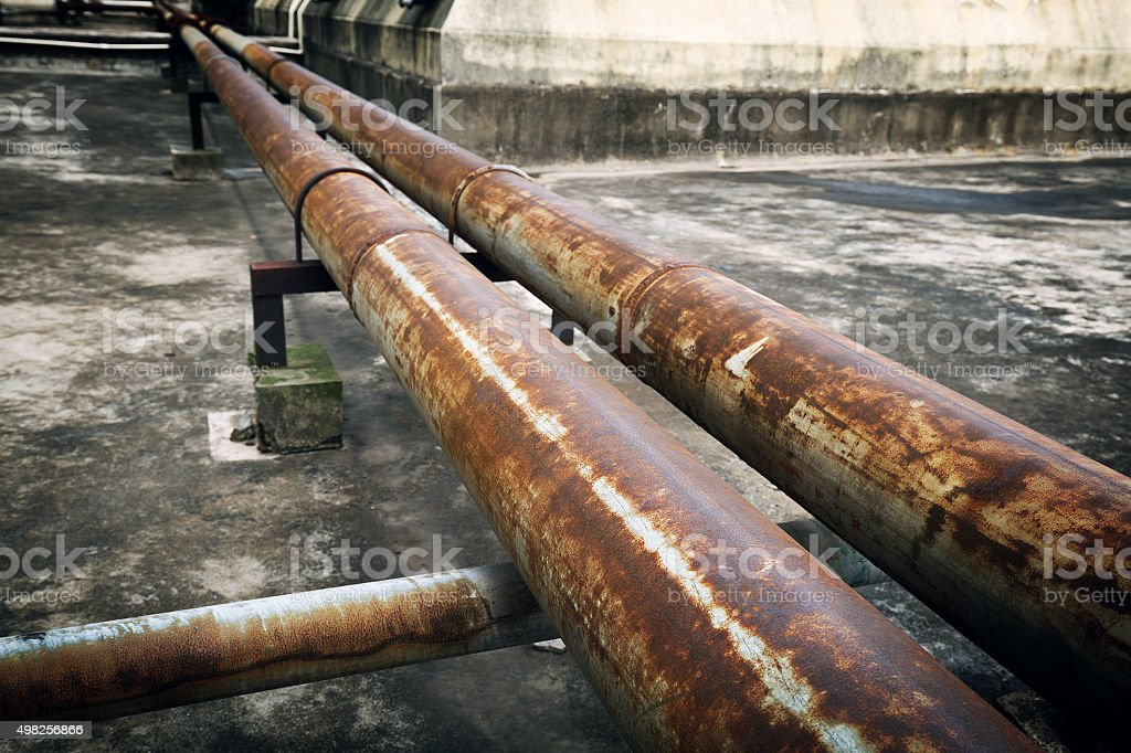 Old pipeline stock photo