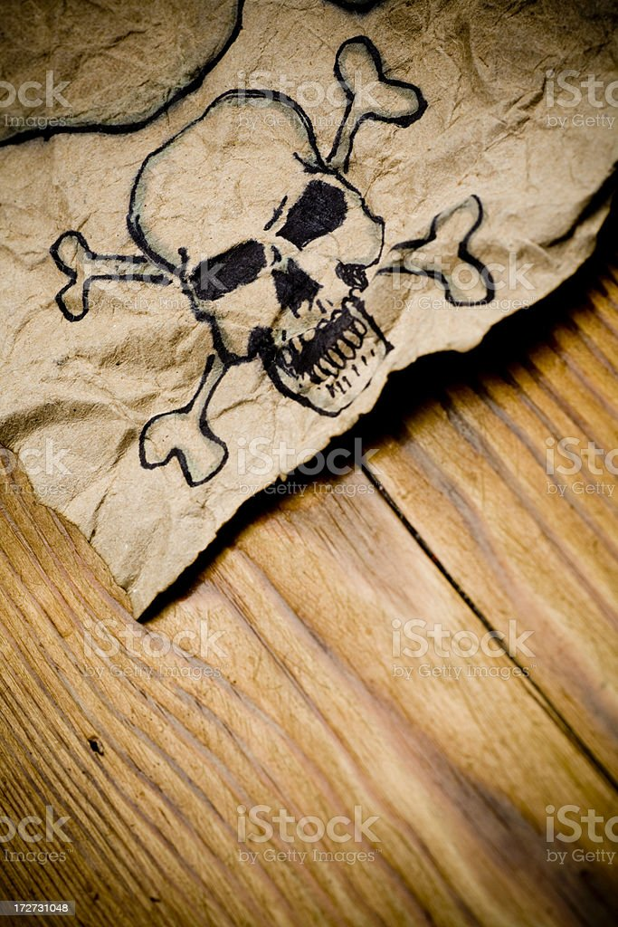 Old pirate map detail royalty-free stock photo