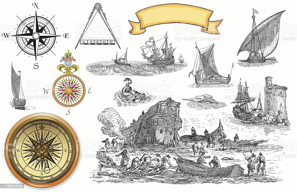 Old pirate map royalty-free stock photo