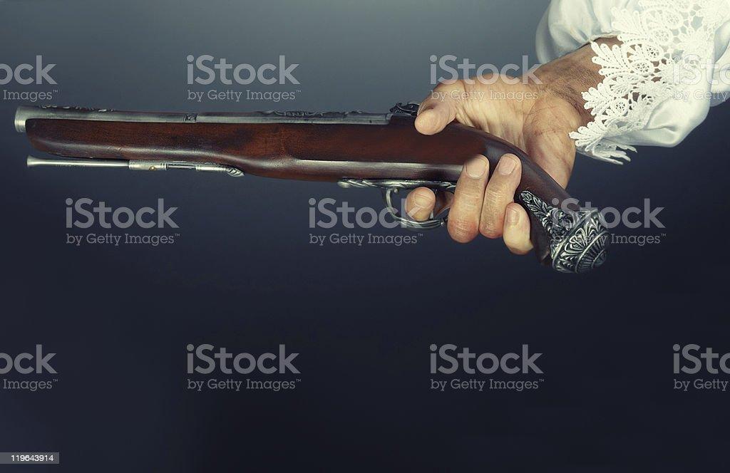 Old pirate pistol stock photo