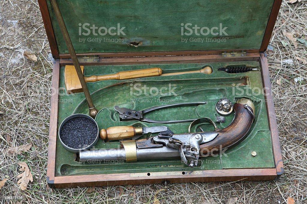 Old pistol stock photo