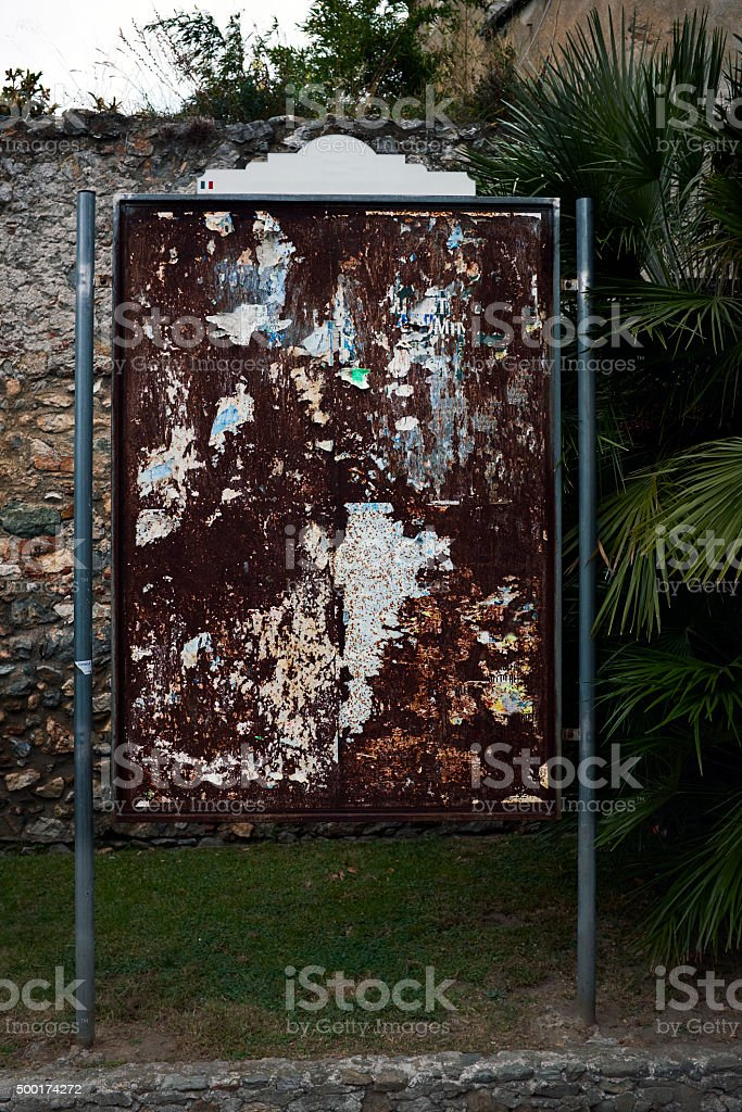 Old Placard stock photo