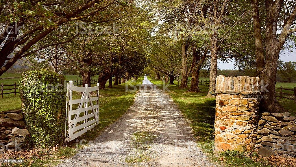 Old Plantation Middleburg Virginia stock photo