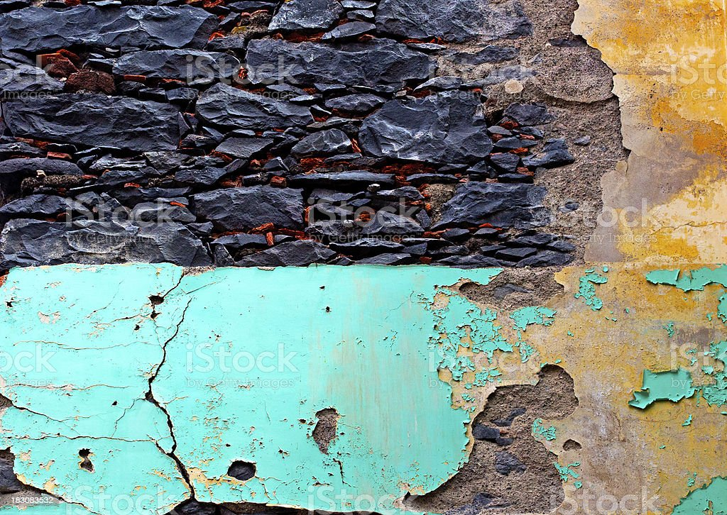 Old plaster on a stone wall royalty-free stock photo