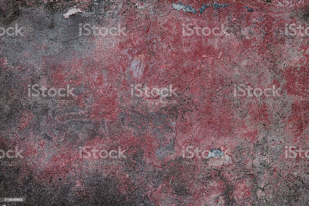 Old plastered surface burgundy and gray stock photo