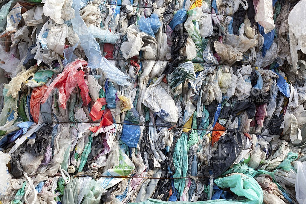 old plastic bag pile royalty-free stock photo