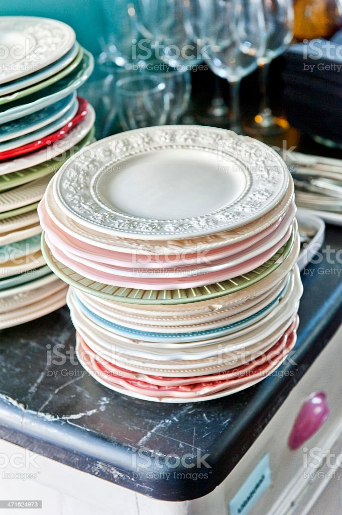Old plates royalty-free stock photo