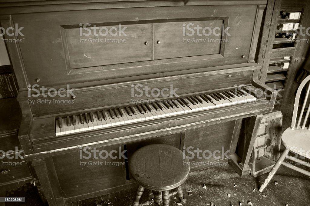 old player piano, retro stock photo