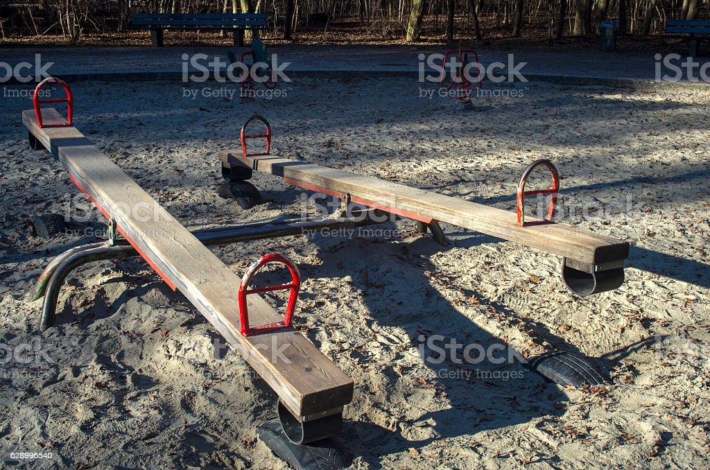 Old playground royalty-free stock photo
