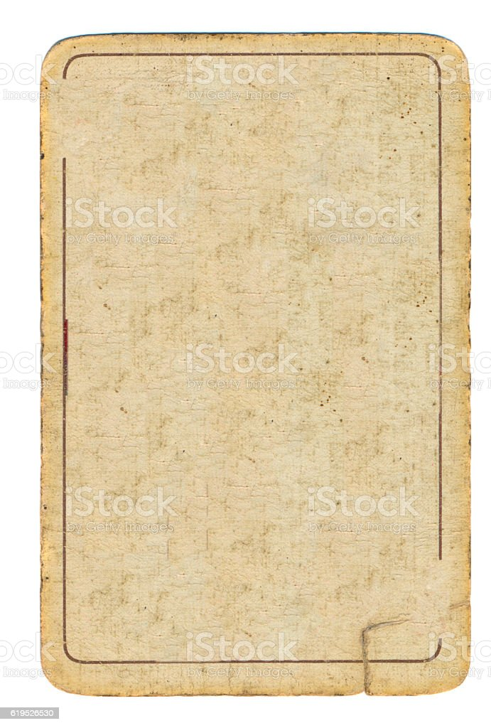old playing card used paper background with one line stock photo