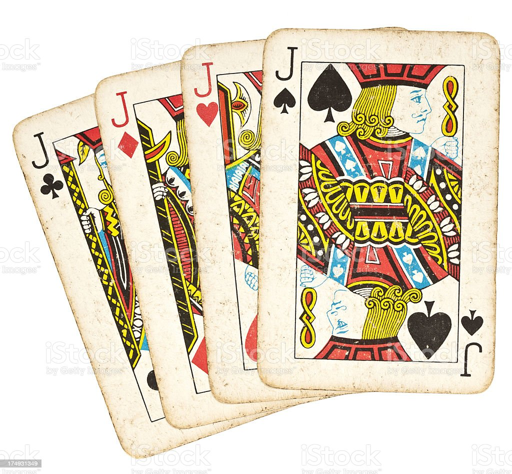 Old Playing Cards - Set of Jacks stock photo