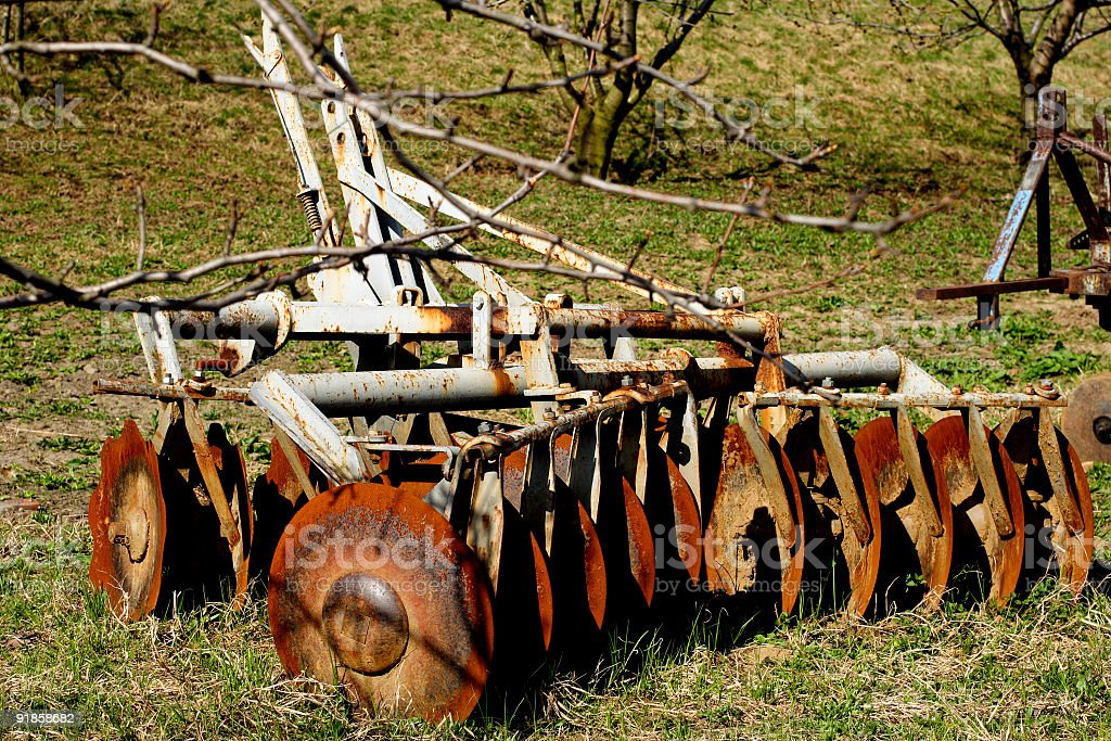 old plough stock photo