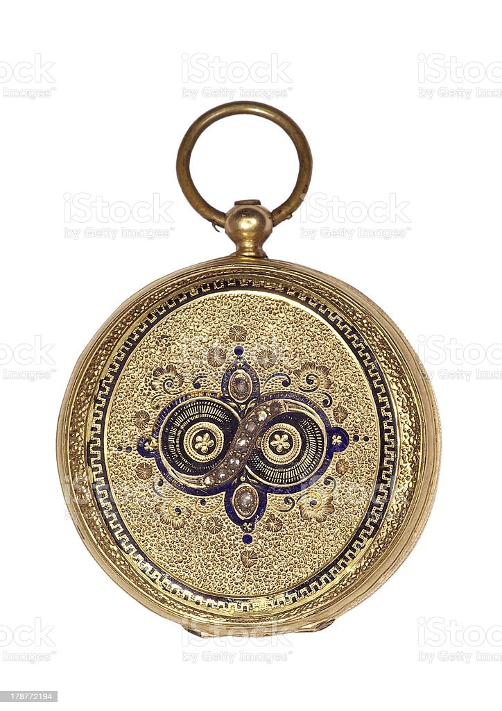 Old pocket watch royalty-free stock photo