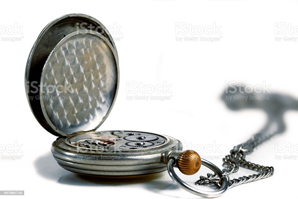 Old pocket watch stock photo