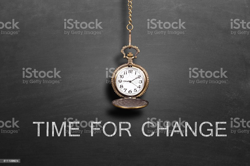 Old pocket watch with a chain stock photo