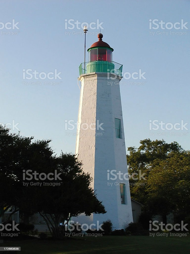 Old Point Comfort Lighthouse stock photo