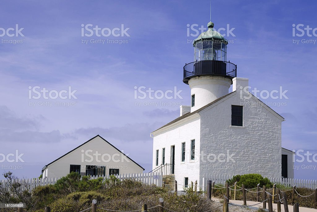 Old Point Loma Lighthouse in San Diego, CA royalty-free stock photo