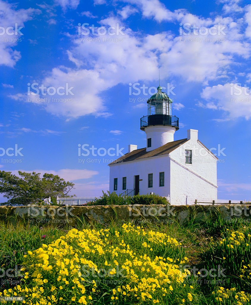Old Point Loma Lighthouse royalty-free stock photo