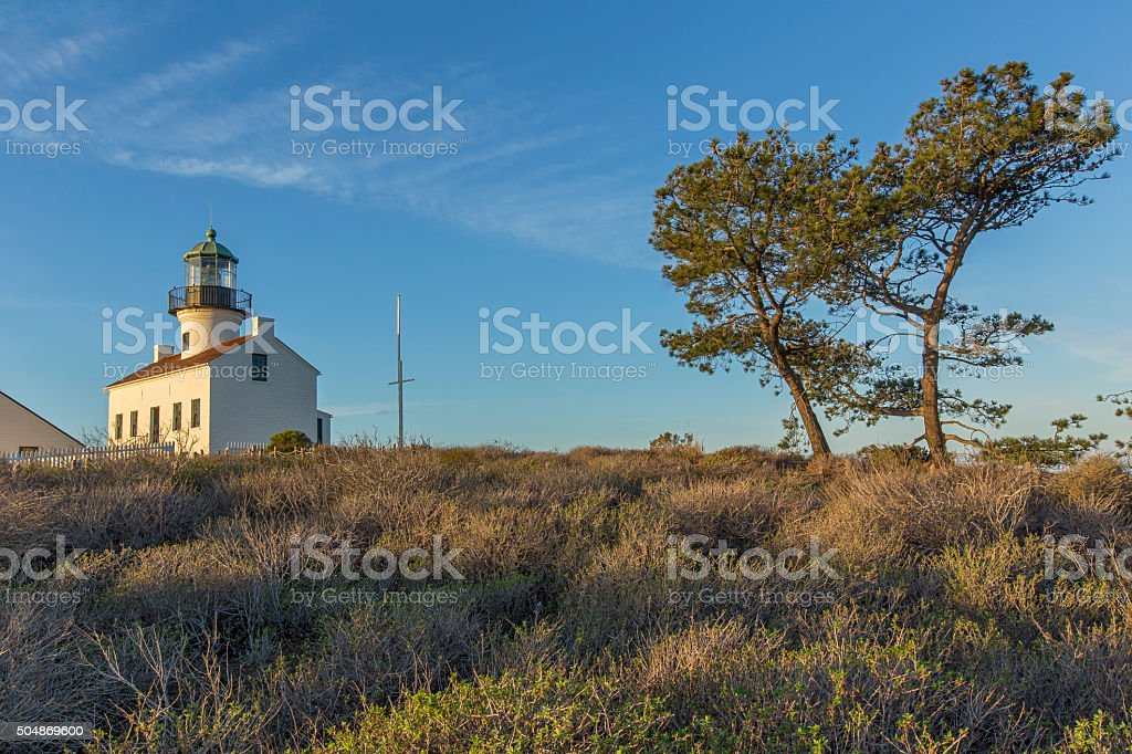 Old Point Loma Lighthouse, San Diego, California stock photo