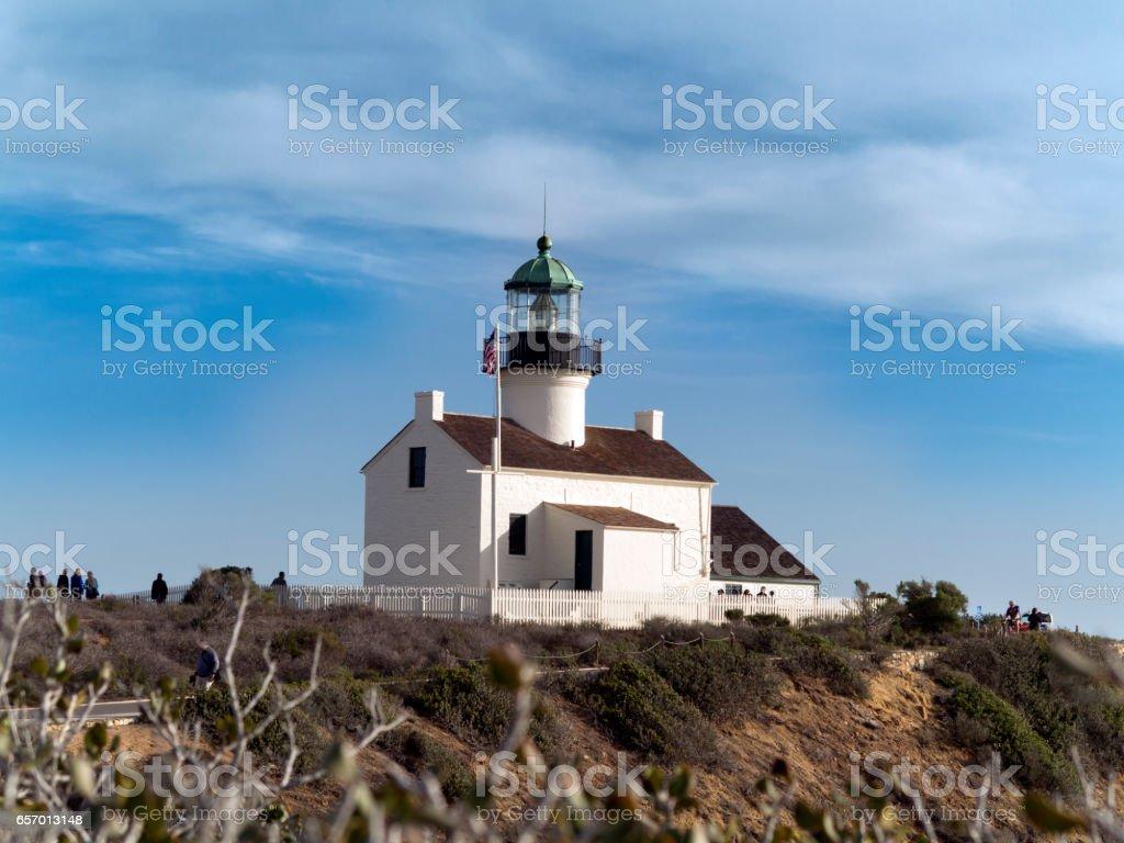 Old Point Loma Lighthouse, San Diego, California stock photo