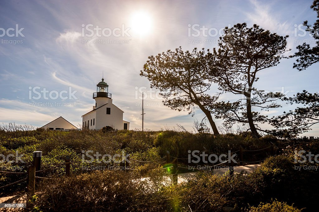 Old Point Loma Lighthouse, San Diego, USA stock photo