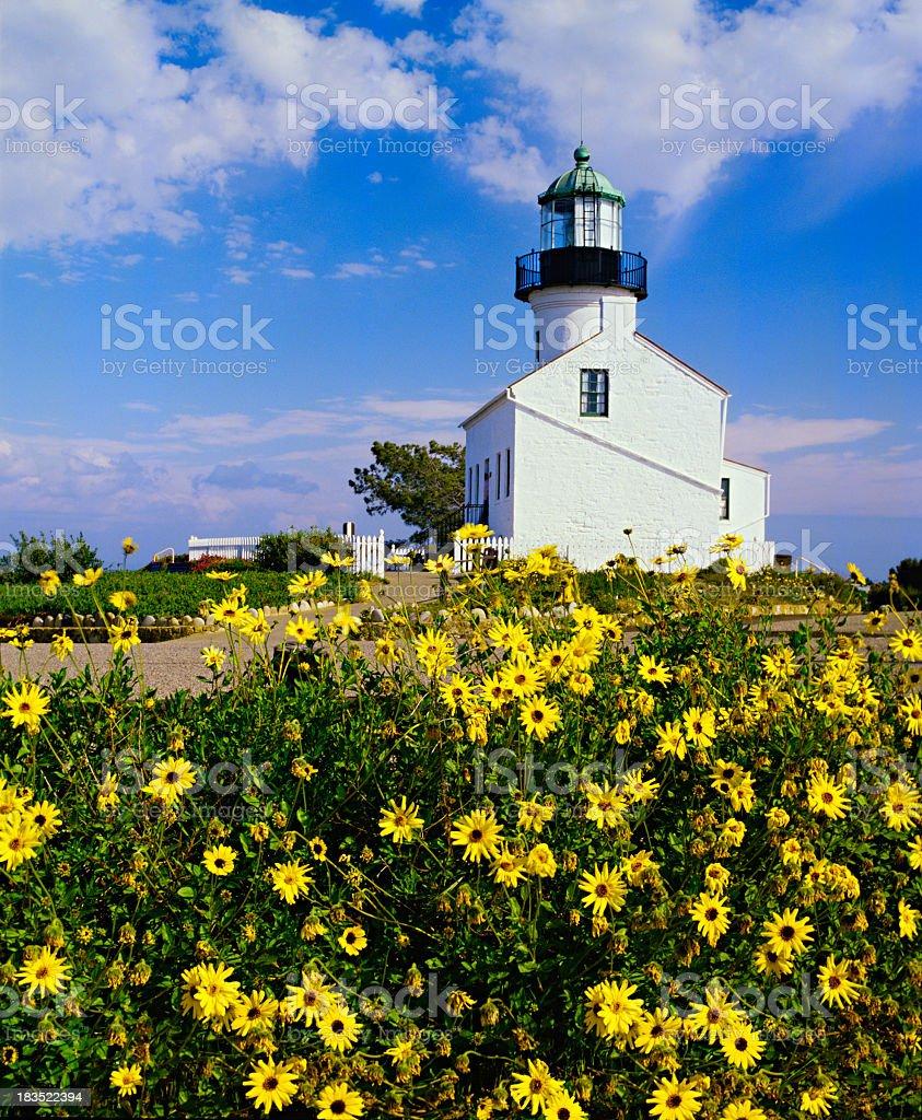 Old Point Loma Lighthouse,California stock photo