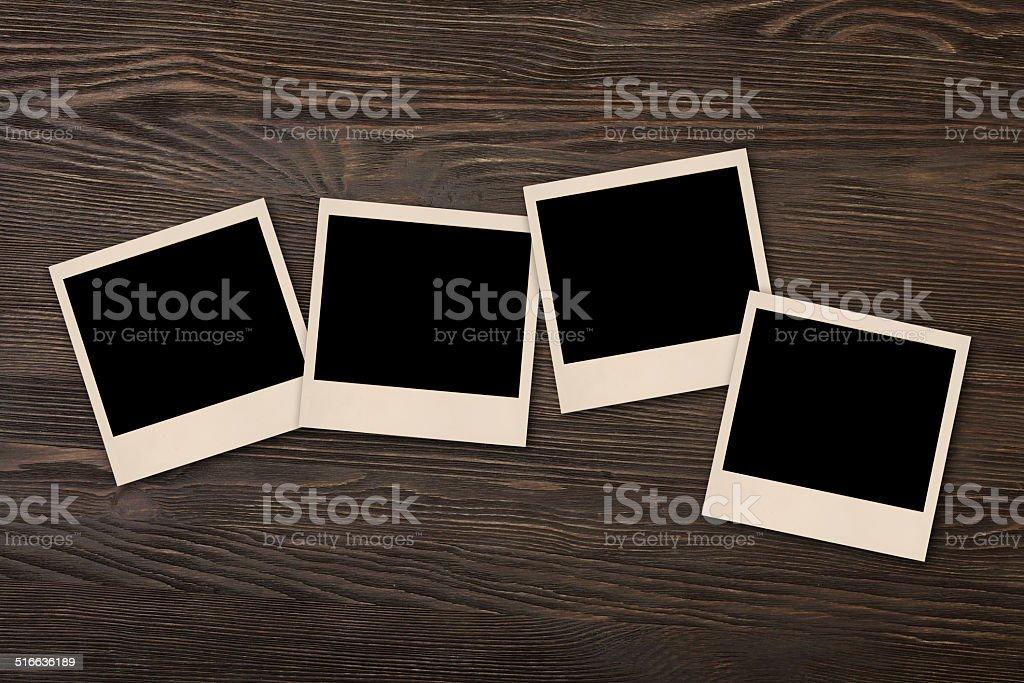 old polaroid photo stock photo