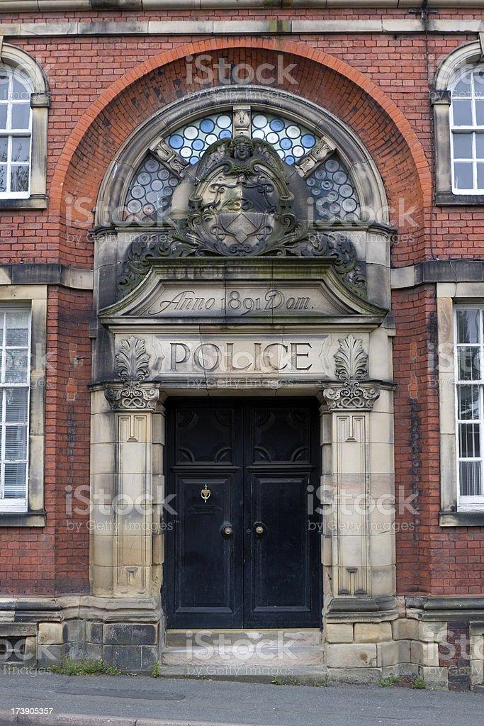 Old Police Station entrance stock photo