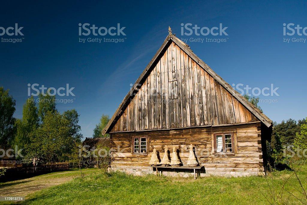 Old Polish Cottage royalty-free stock photo