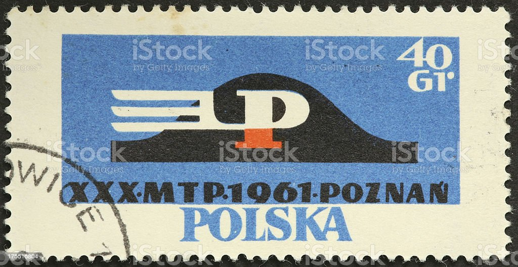 old Polish postage stamp royalty-free stock photo