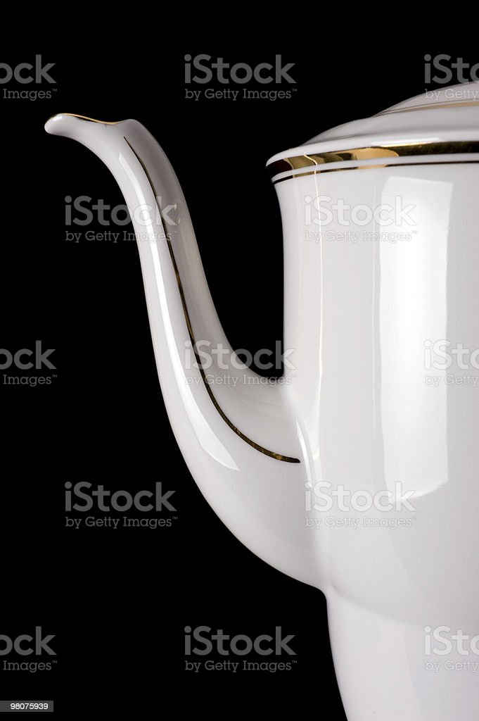 old porcelain teapot royalty-free stock photo