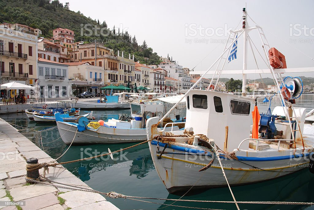 Old port at Pylos, Greece royalty-free stock photo