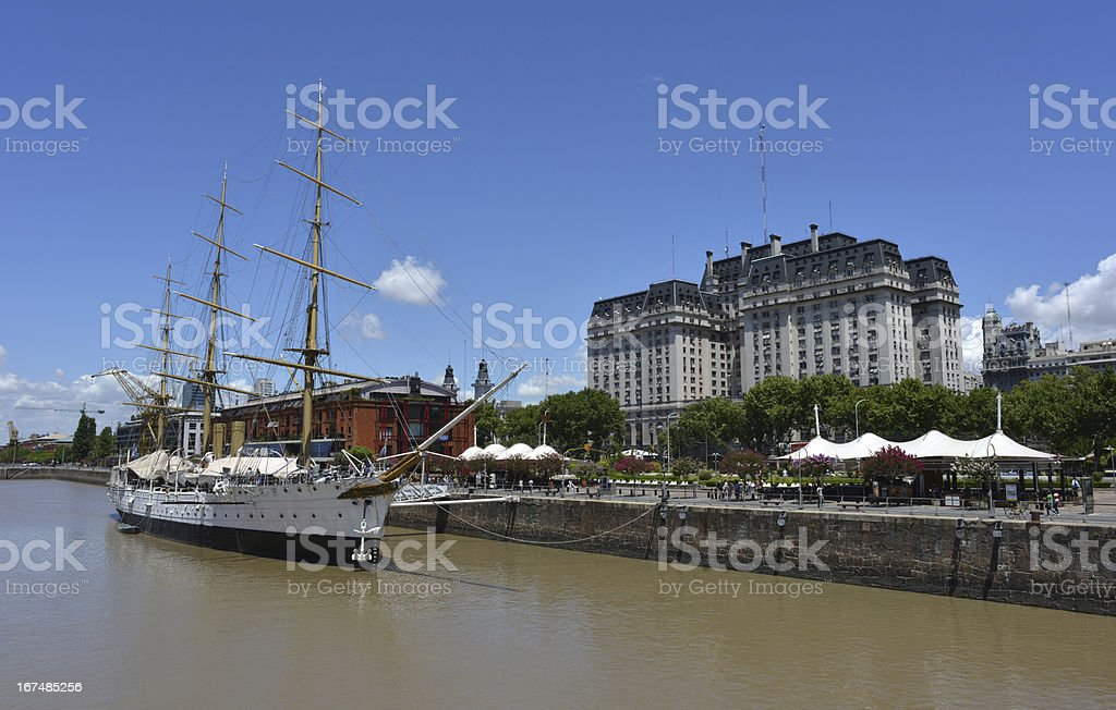 Old port, Buenos Aires royalty-free stock photo