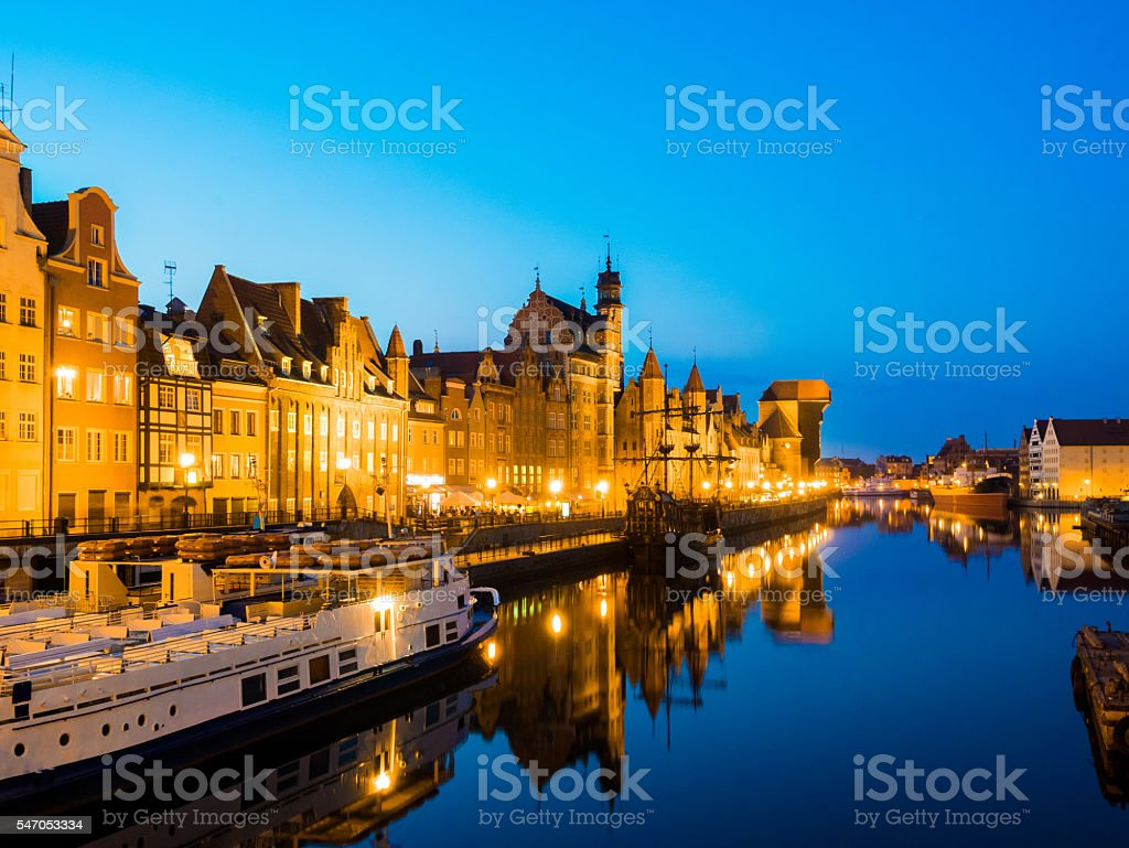 Old Port in Gdansk, Poland stock photo