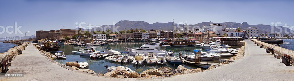 old Port in Kyrenia stock photo