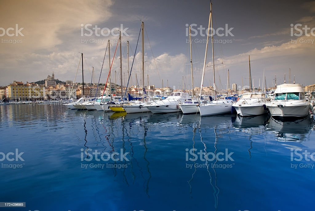 Old port in Marseille royalty-free stock photo