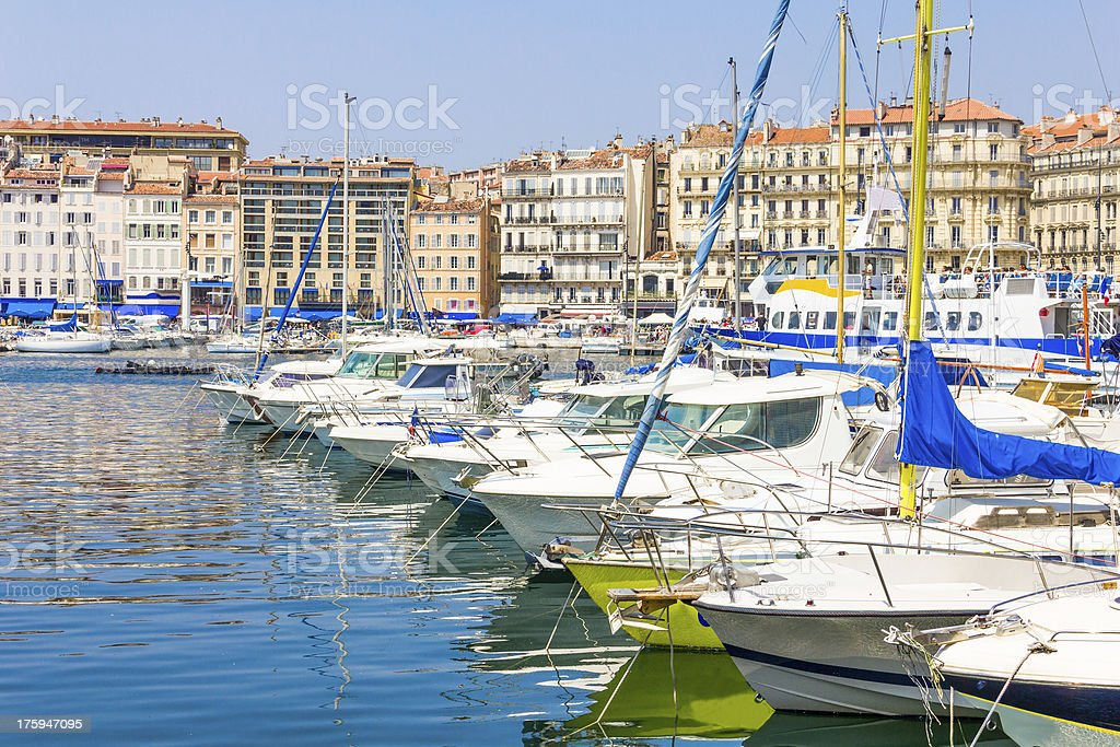 Old port in Marseilles, France royalty-free stock photo