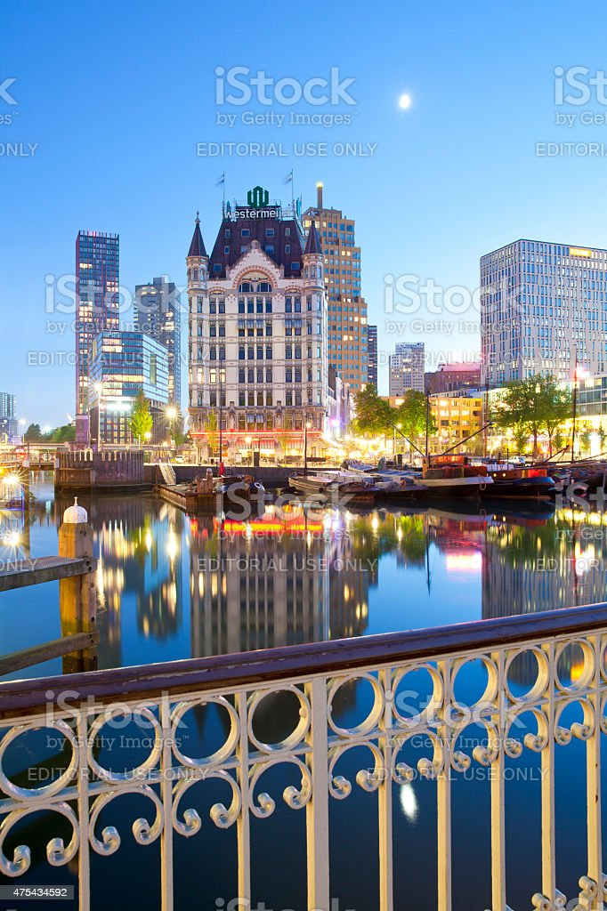 Old port in Rotterdam, Netherlands stock photo