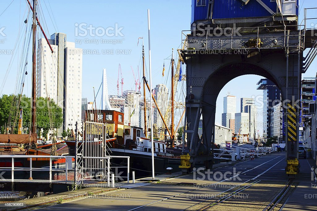 Old port in Rotterdam. royalty-free stock photo